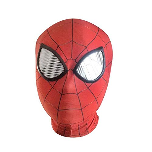 Boys Costume Accessories - Anime Movie Iron Man Spider Mask Hoods Tights Cosplay Costumes Props Adult Children Fancy Gift - Costume Boys Accessories Boys Costume Accessories Spandex Spiderm ()