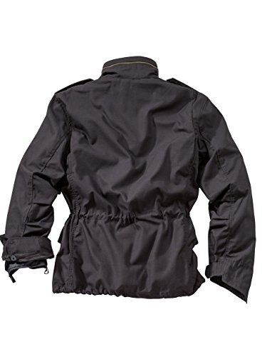 65 Manica Surplus black Giacca Nero Us M Fieldjacket Da Uomo Lunga tUHBRq
