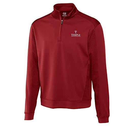 NCAA Temple Owls Men's Edge Half Zip Jacket, Medium, Cardinal Red