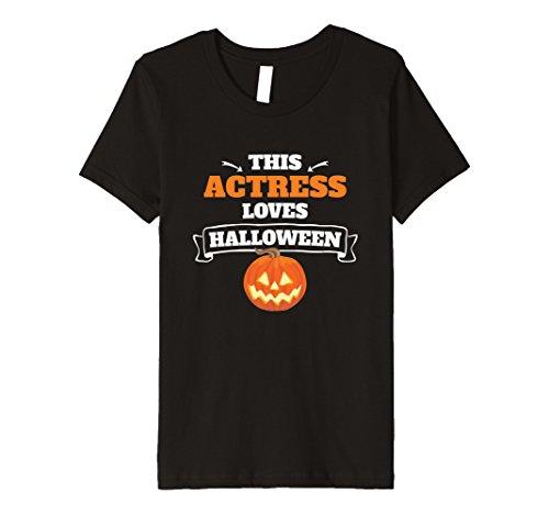 Kids Actress Loves Halloween T-Shirt - Jack-o-lantern Pum...