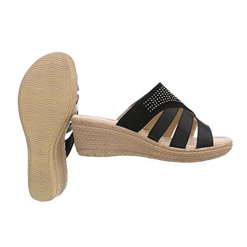 Zuecos Vestir Sandalias Negro Ital Para Plataforma de Mujer Design S280 Zapatos 8wUq7
