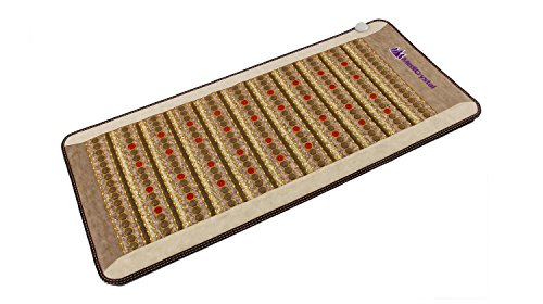 """Amethyst Jade Tourmaline FIR PEMF Photon Mat - Professional 71""""L x 32""""W - Adjustable 86-158F Far InfraRed Heating -Bio Stimulation Red Light - Ion- Pulsed Magnetic Therapy -FDA Registered Manufacturer by MediCrystal (Image #9)"""