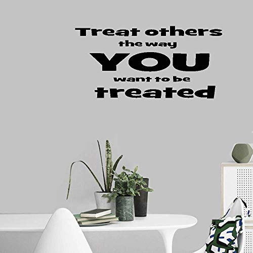 Vinyl Wall Decals Quotes Sayings Words Art Decor Lettering Vinyl Wall Art Treat Others The Way You Want to Be Treated for Nursery Kids Room Bedroom Living Room Home Decor