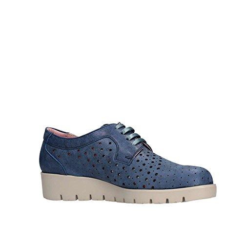 Zapatos Mujer para Cordones Derby de Azul Haman Callaghan 1qxY8Ow