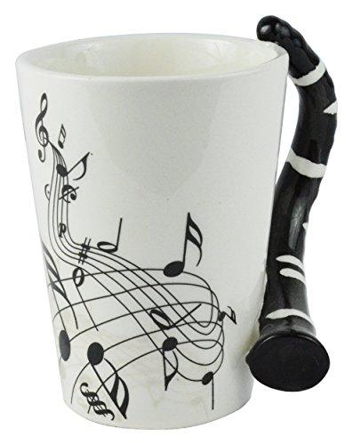 Fairly Odd Novelties FON-10215 Clarinet Guitar Coffee Mug, One Size, White