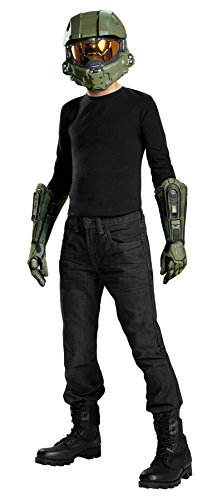 Disguise Master Chief Half Mask & Gloves Theme Party Halloween Costume Accessory ()