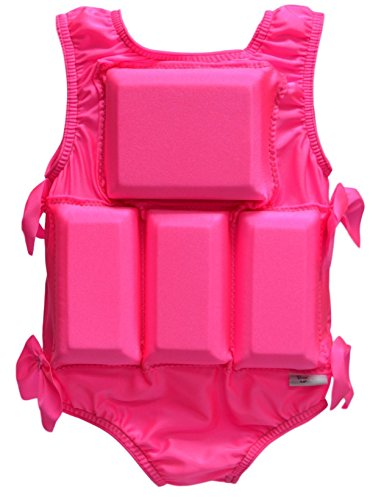 - My Pool Pal Girl's Flotation Swimsuit, Solid Pink, Medium