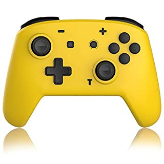 Gamepad Switch Wireless Controller for Nintendo Switch and Switch Pro Controller Remote Motion Gamepad with Dual Shock-Gyro Axis (Yellow)