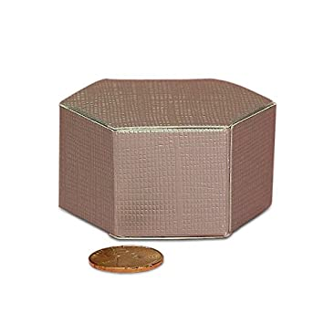 Amazon.com: Cartón transparente plata Hexágono Favor cajas ...