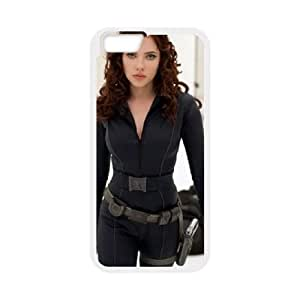 Black Widow iPhone 6 Plus 5.5 Inch Cell Phone Case White PhoneAccessory LSX_888363
