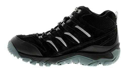 Merrell Blanco De Hombre Pino Medio Ventilación Hikers con Impermeable Ante Y Malla - Negro - GB Sizes 7-13