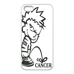 Customized Case Cover for iPhone 5,5S - Fuck Cancer case 3