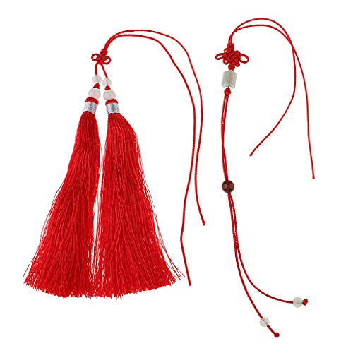 Long Tassels Pendants Bookmark Tassels DIY Jewelry Accessories Crafts | Color - Red