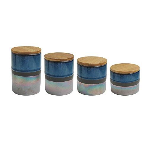 American Atelier 7009-CAN-RB Abingdon - Juego de botes (17 x 4,2 x 8 cm), color azul