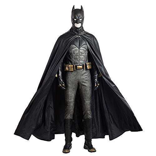 Affleck Batman Costume (KILLM Halloween Men DC Justice League Batman COS Ben Affleck Battlesuit Movie Cospaly)