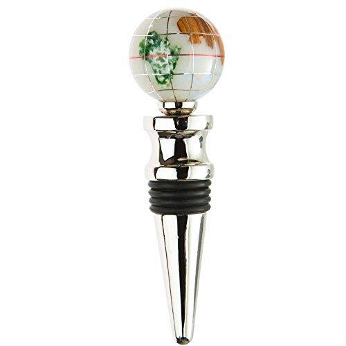 Gemstone Globe Finish: Bright Silver, Color: Opal