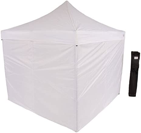 Impact Canopy 10 x 10 Pop-Up Canopy Tent, Straight-Leg Shelter with Steel Frame, Sidewalls, and Roller Bag, White