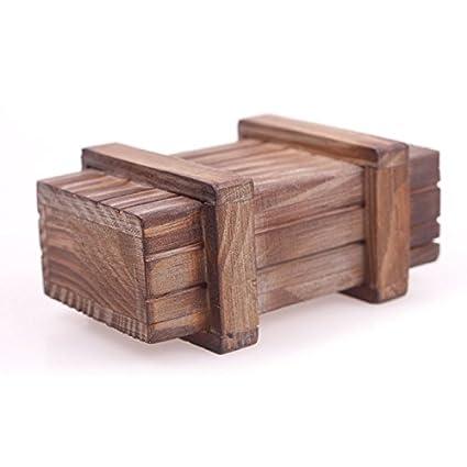 Calistouk Caja mágica de madera de regalo secreto con diseño de rompecabezas: Amazon.es: Juguetes y juegos
