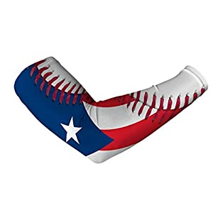 Puerto Rico Flag Baseball Lace Arm Sleeve S/M