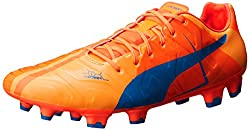 PUMA Men's Evopower 1 H2H FG Soccer Shoe, Orange Clown Fish, 11 M US