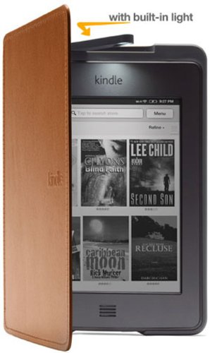 Amazon Kindle Touch Lighted Leather Cover, Saddle Tan (does not fit Kindle Paperwhite)