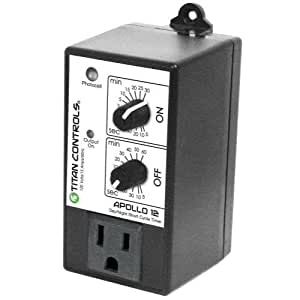 Titan Controls Short Cycle Timer w/ Photocell, Single Outlet, 120V - Apollo 12