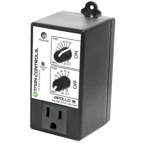Titan Controls Short Cycle Timer w/ Photocell, Single Outlet, 120V - Apollo 12 ()