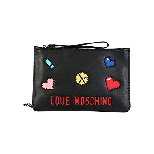 Moschino noire Pochette noire femme Love Pochette nwUYXUgRq