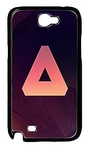Samsung Note II Case Triangle PC Custom Samsung Note 2 Case Cover Black