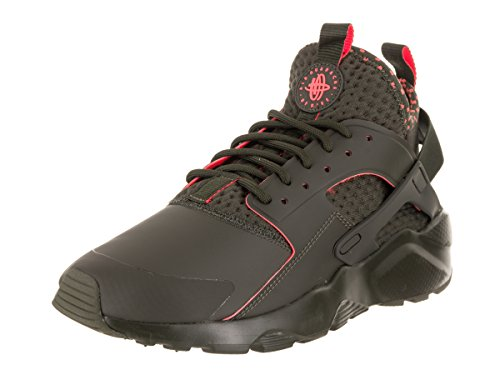 NIKE Men's Air Huarache Run Ultra SE Cargo Khaki/Total Crimson Running Shoe 10 Men US