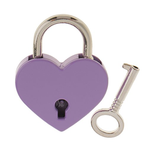 Well Wreapped Magideal Classic Heart Padlock Jewelry Boxes Lock Set