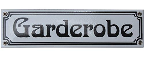 Garderobe schild  Amazon.de: Garderobe Emaille Schild 8 x 30 cm Jugendstil ...