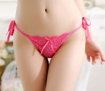 3x Sexy String-Set 'Charlotte' - Tanga Dessous Seitlich zum Binden | Größe 34-36