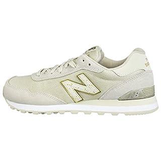 New Balance Women's 515 V1 Sneaker, Oyster/Gold Metallic, 6 W US