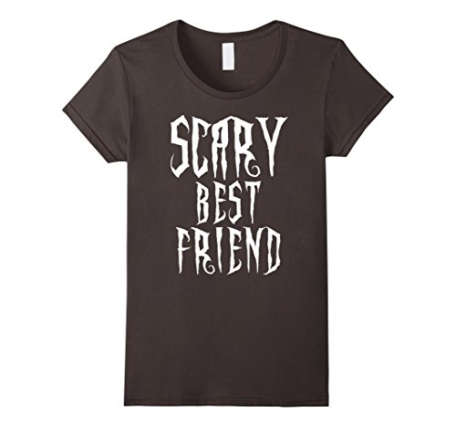 Womens Scary Best Friend Spooky Halloween Costume Novelty T Shirt Medium (Fun Halloween Costumes For Best Friends)
