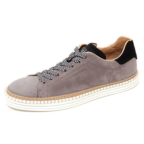 D0116 sneaker uomo HOGAN REBEL R260 scarpa grigio/nero shoe man Grigio/Nero