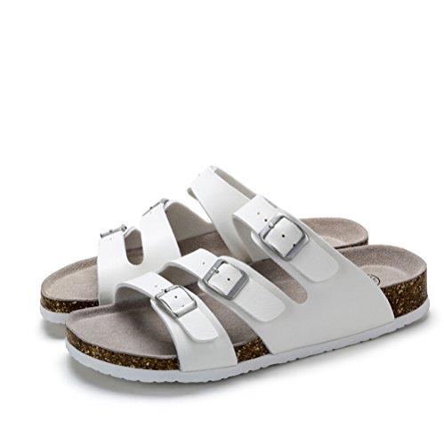 Camel Mens Casual Buckle Straps Sandals Color White Size 40 M EU i4Oby