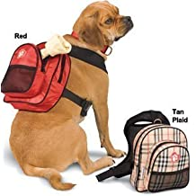 PATCHWORK SarahTom 7-Inch Pet Backpack for Dogs, Red