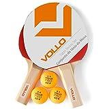 Kit Tênis de Mesa Vollo 2 Raquetes 3 Bolas Vt610