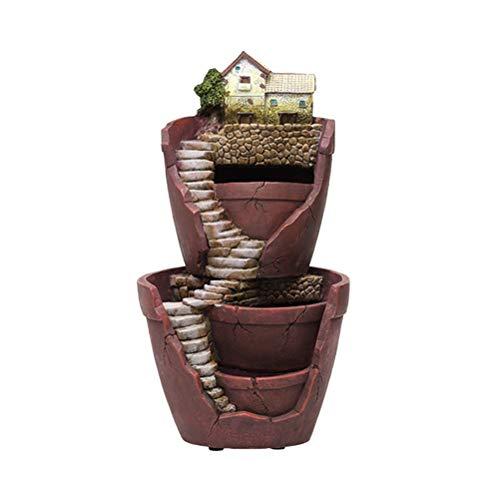 Vosarea Succulent Plant Flower Pot Dual Layer Magic Castle Fairy Garden Miniature Broken Flower Pot