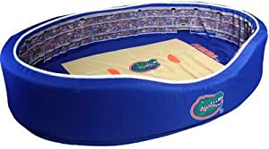 Medium NCAA Gonzaga Bulldogs GON-02-2000 Stadium Pet Bed Blue