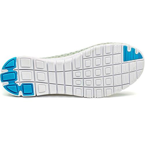 Cerf Mens Chaussures Deau Plage Aqua Sport Respirant Maille Mocassins Léger Gris-bleu