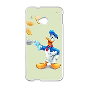HTC One M7 Cell Phone Case White Donald Duck OJ563563
