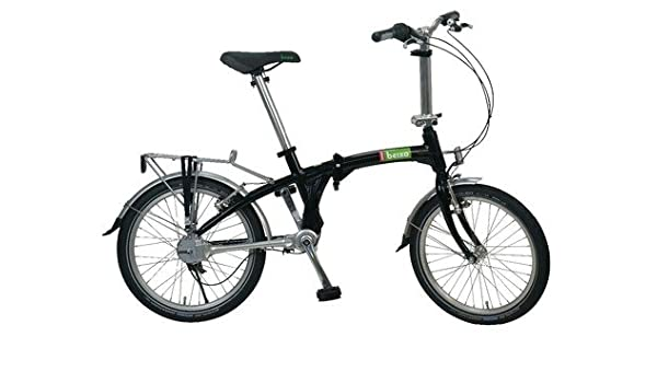 beixo plegable bicicleta Compact High Kardan accionamiento 7 marchas, Plata Negro negro: Amazon.es: Deportes y aire libre