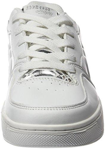 MTNG Attitude 69022 - Zapatillas para mujer Beige (ACTION PU BLANCO / SNAKE PLATA)