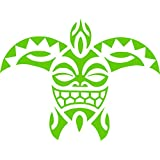 Tribal Turtle Car Truck Van SUV Window Laptop Ipad Wall Vinyl Decal Sticker (Lime Green)
