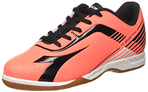 Diadora Men's 7fifty Id Indoor Soccer Shoes Red (Rosso Fluo/Nero) zdyAN