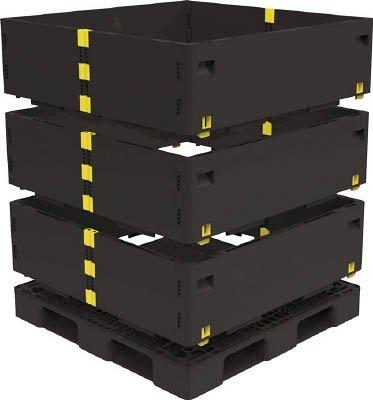 トラスコ中山 マルチステージコンテナ 3段 1100X1100 黒 (1枚) TMSC-S1111-BK B01E4S0OMW