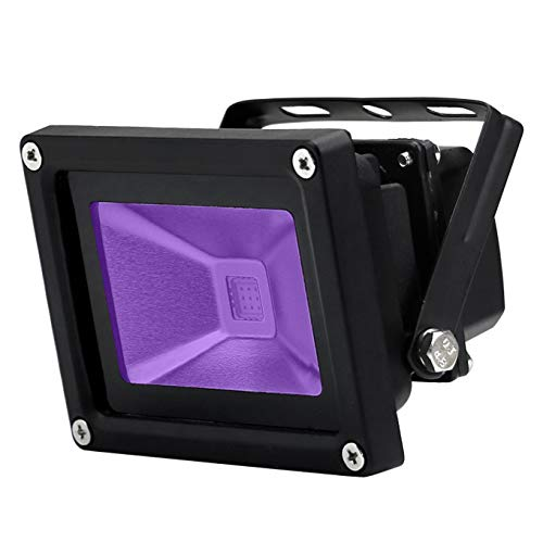 YQL Outdoor UV Black Light,10W Ultra Violet LED Flood Light,Blacklights for DJ Disco Night Clubs,UV Light Glow Bar,Blacklight Dance Party,Stage Lighting,glow in the dark party supplies from YQL