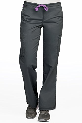 Med Couture Women's MC2 Layla 2 Cargo Pocket Signature Scrub Pant, Pewter, X-Large Tall ()